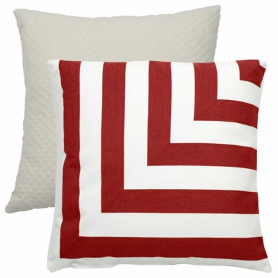 Cajun L-Stripe With Matelasse Tufted Canvas Backing And Knife Edge