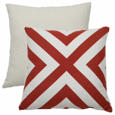 Cajun X-Stripe With Matelasse Tufted Canvas Backing And Knife Edge