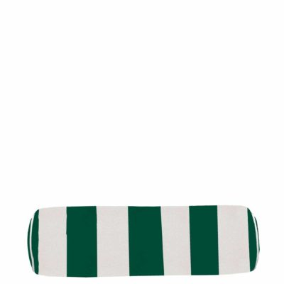 Emerald Vert Stripe With Linen Snow Backing And Knife Edge