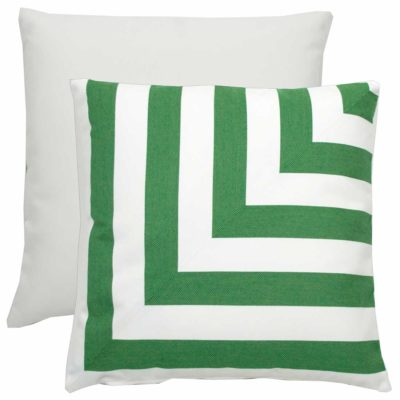 Emerald L-Stripe With Linen Snow Backing And Knife Edge