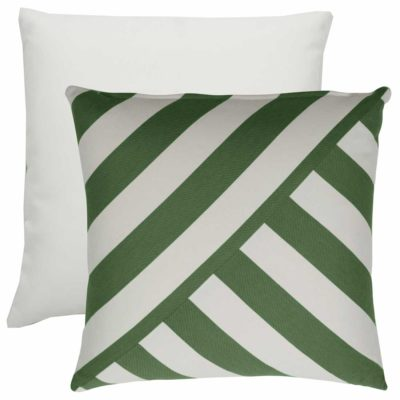 Emerald T-Stripe With Linen Snow Backing And Knife Edge