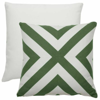Emerald X-Stripe With Linen Snow Backing And Knife Edge
