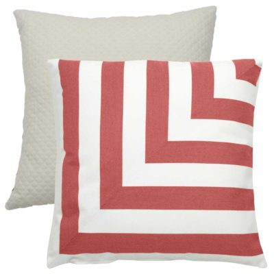 Flamingo L-Stripe With Matelasse Tufted Canvas Backing And Knife Edge
