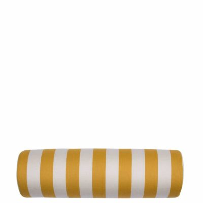 Mustard Vertical Stripe With Linen Snow Backing And Knife Edge
