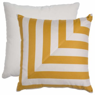 Mustard L-Stripe With Linen Snow Backing And Knife Edge