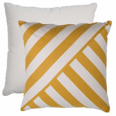 Mustard T-Stripe With Linen Snow Backing And Knife Edge