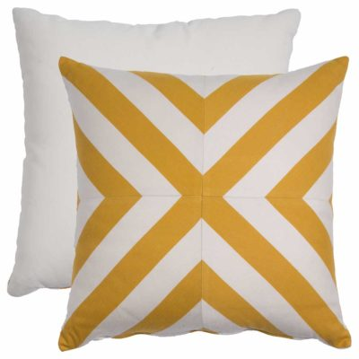Mustard X-Stripe With Linen Snow Backing And Knife Edge