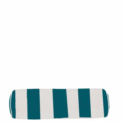 Reef Vert Stripe With Linen Snow Backing And Knife Edge