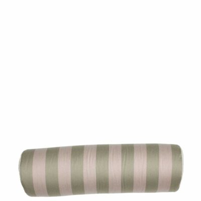 Sage And Pebble Vertical Stripe With Tufted Canvas Backing And Knife Edge