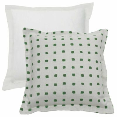 Emerald With Linen Snow Backing And Snow Single Flange