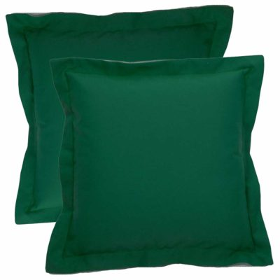 With Linen Emerald Backing And Snow Double Flange