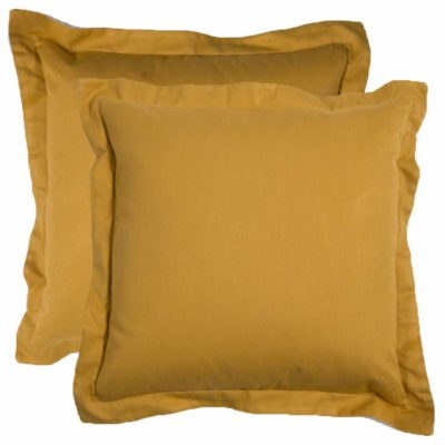 Mustard With Premier Mustard Backing And Linen Snow Double Flange