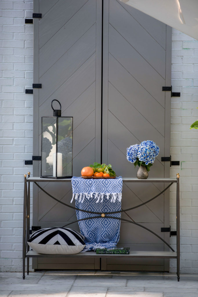 Outdoor Console Table Styling