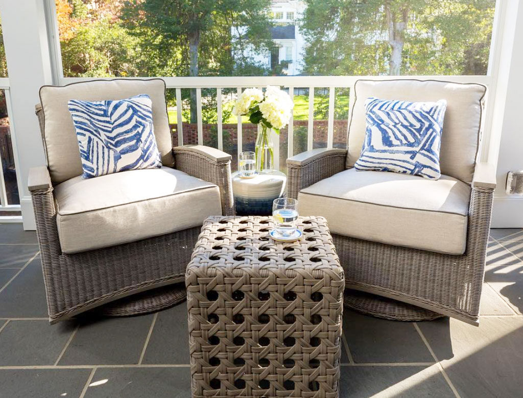 small patio seating arrangement