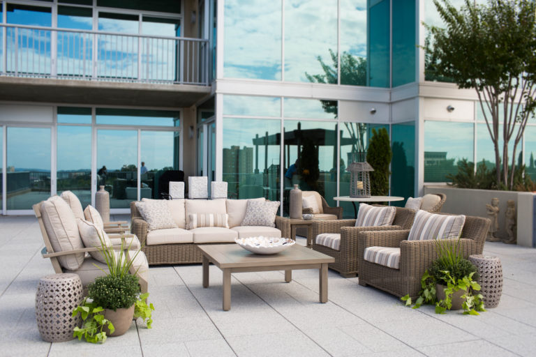 Downtown Birmingham Rooftop Outdoor Furniture