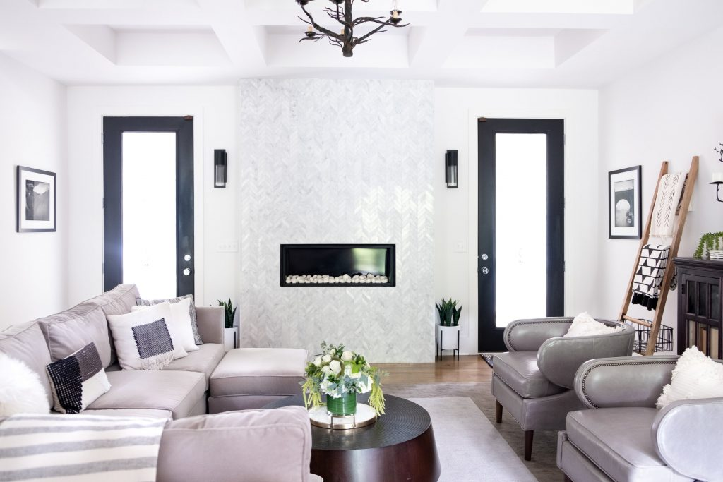 the home edit cleas living room reveal with gabby